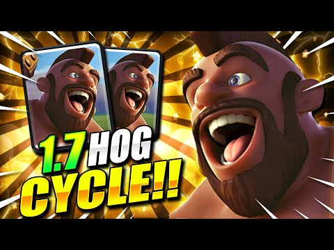 1.7 ELIXIR! FASTEST HOG CYCLE DECK IN CLASH ROYALE!! THIS IS INSANE!!