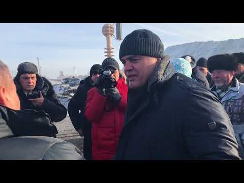 Жители заблокировали дорогу угольного разреза