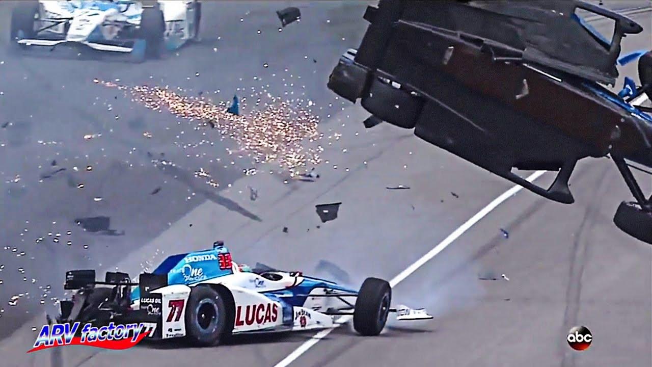 Dixon Indy Car Crash