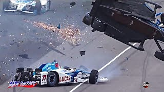 Scott Dixon Big Crash 2017 Indy 500