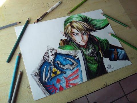 speed-drawing:-link-(the-legend-of-zelda)