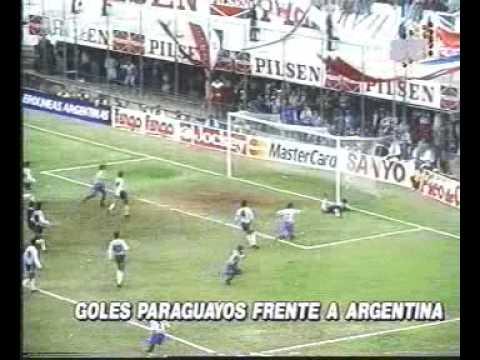 goles de paraguay a argentina en los 80s y 90s