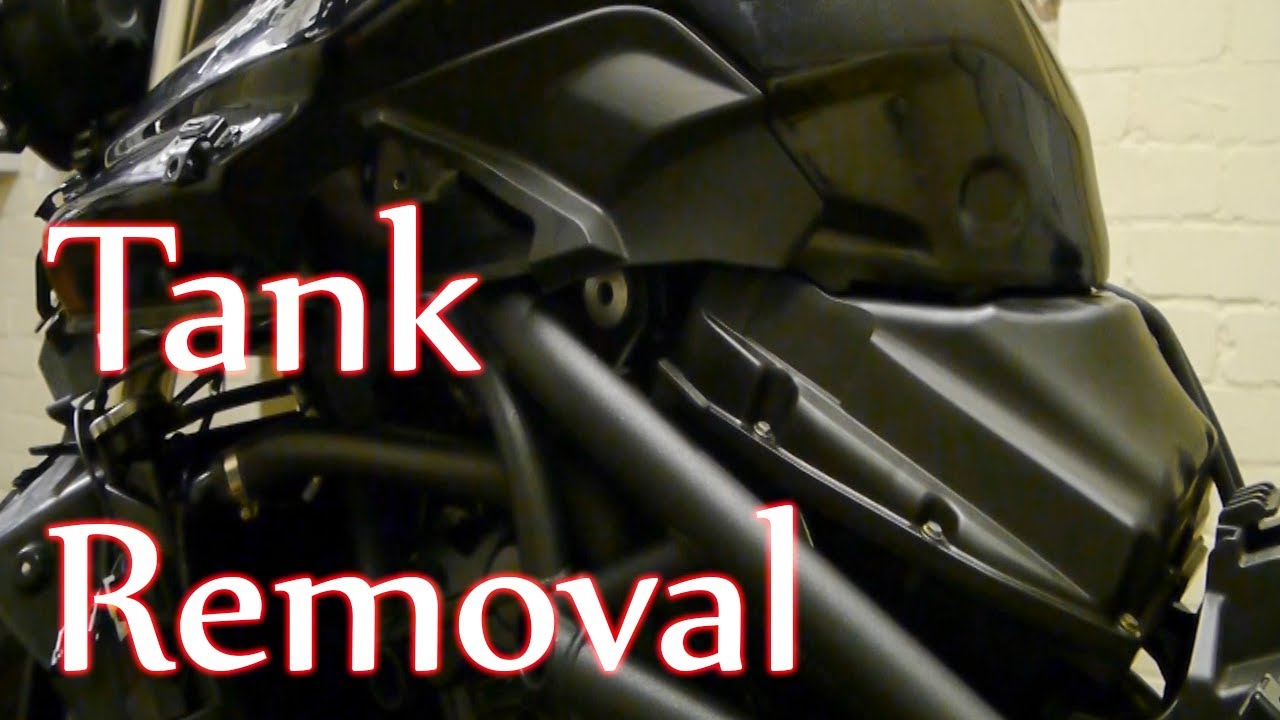 Triumph Tiger 800 >> Tiger 800 - Fuel tank removal - YouTube