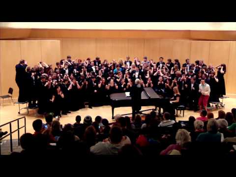 The University Singers perform Jabberwocky and The Stein Song at their spring concert