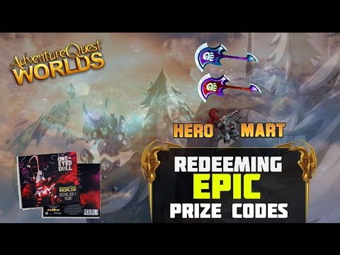 Redeeming EPIC Prize Codes from └ HEROMART ┐ AQW 2016