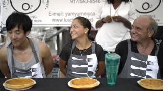 Sweet Potato Pie Eating Contest At The Market: Yummy!