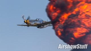 Video P-51 Mustang and B-25 Mitchell Bombing Runs and Formation Passes - Cleveland Airshow 2016 download MP3, 3GP, MP4, WEBM, AVI, FLV November 2017