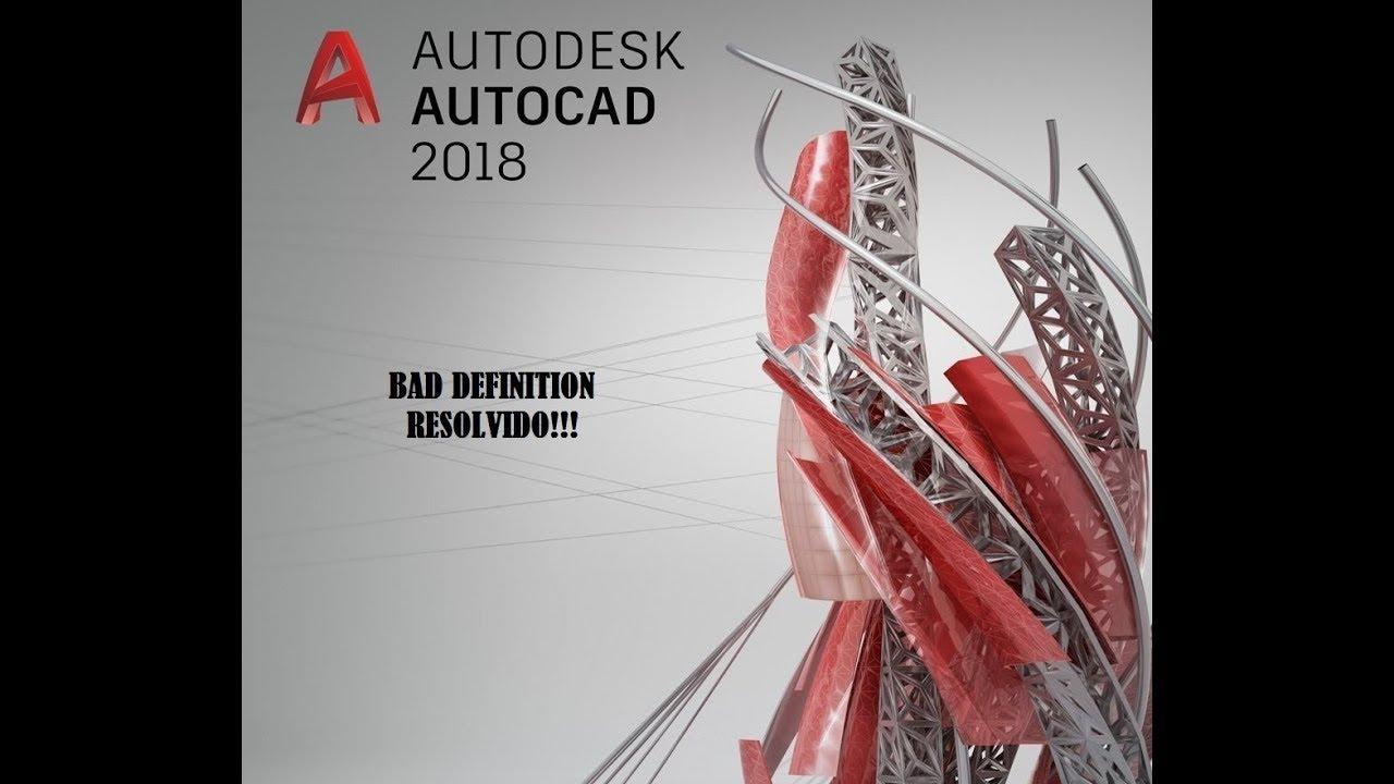 Bad definition linetype autocad