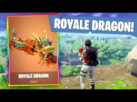 THE FORTNITE ROYALE DRAGON!! (Fortnite Battle Royale Gameplay)