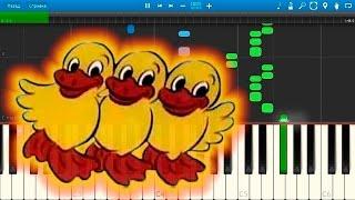 Танец маленьких утят (Duck dance song) (на пианино Synthesia)