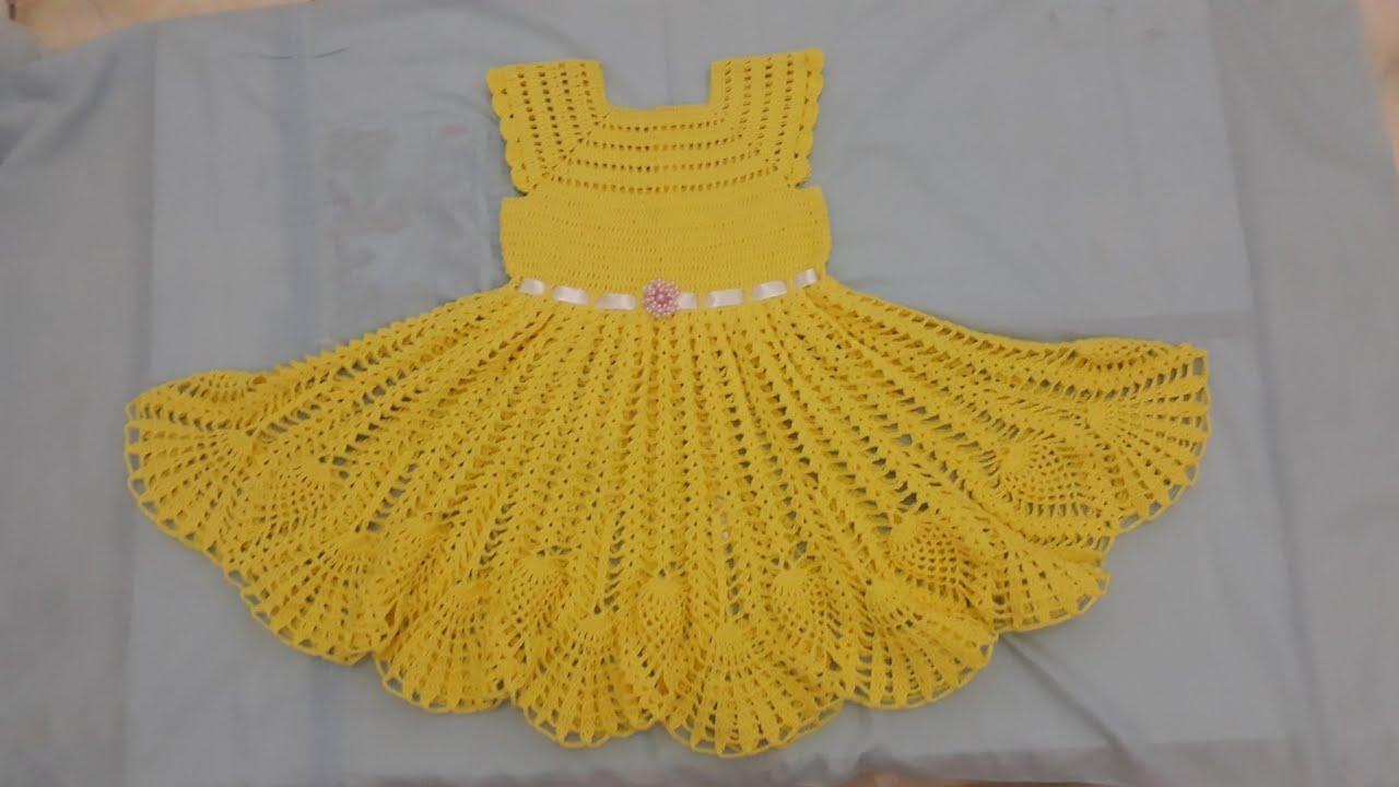 a7ebffabac90 Vestido amarelo de crochê pra menina de 4 e 5 anos - YouTube