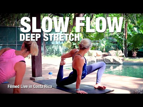 Slow Flow / Deep Stretch Yoga Class - live from Costa Rica - Five Parks Yoga