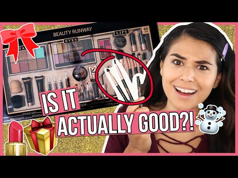 Testing a CHEAP Holiday Makeup Gift Set So You Don't Have To