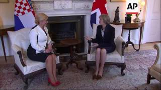 May meets Croatia president at Downing Street