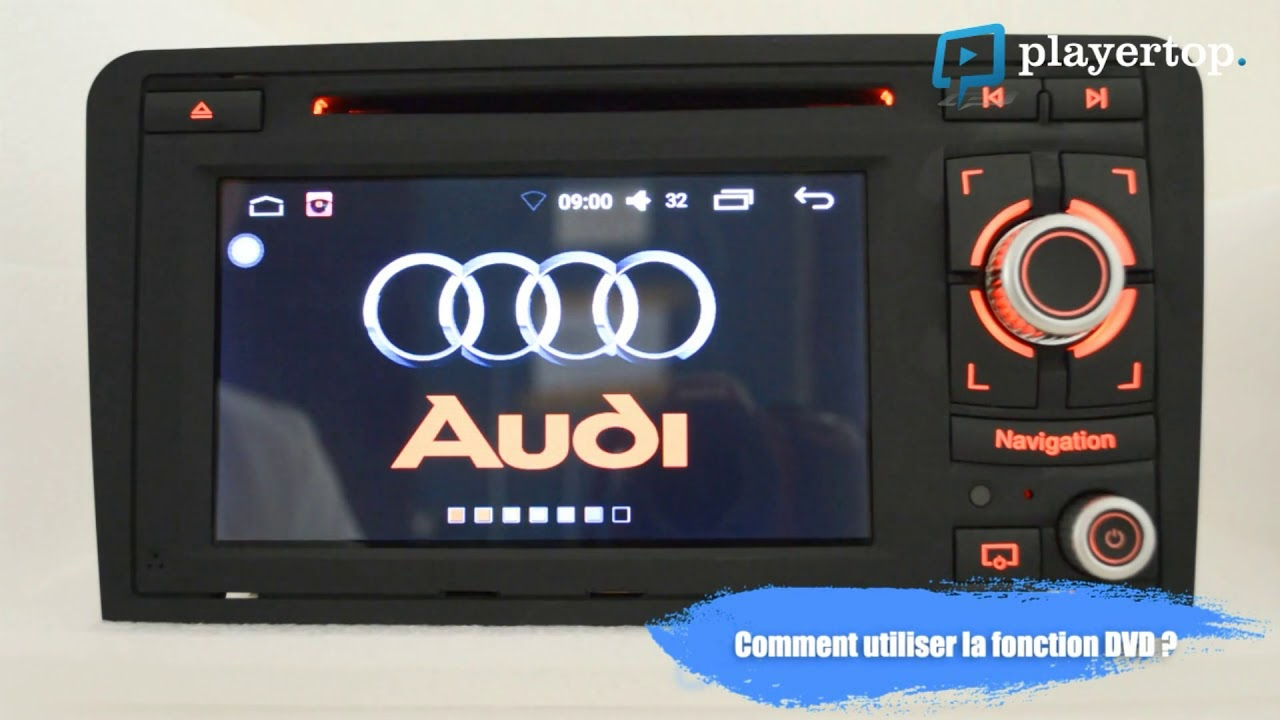 autoradio audi a3 gps et bluetooth auto chez player top youtube. Black Bedroom Furniture Sets. Home Design Ideas