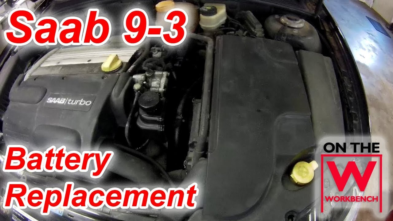 hight resolution of saab 9 3 battery replacement