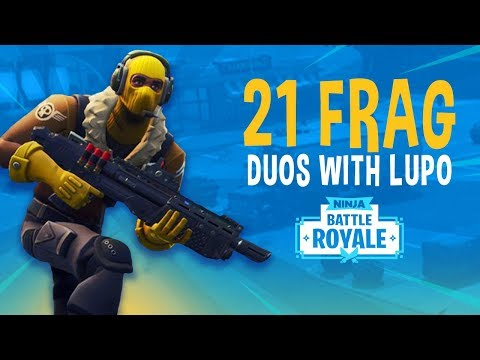 21 Frag Duos with Lupo! - Fortnite Battle Royale Gameplay - Ninja
