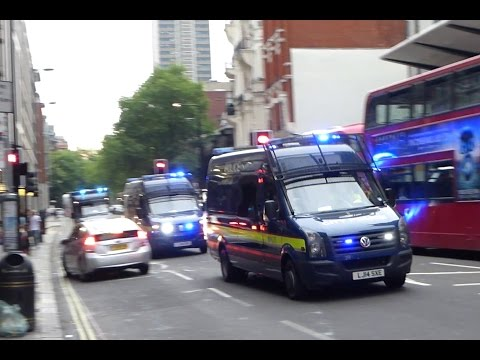 Massive Police Emergency Response in London - Convoys, Vans, Cars & Motorcycles