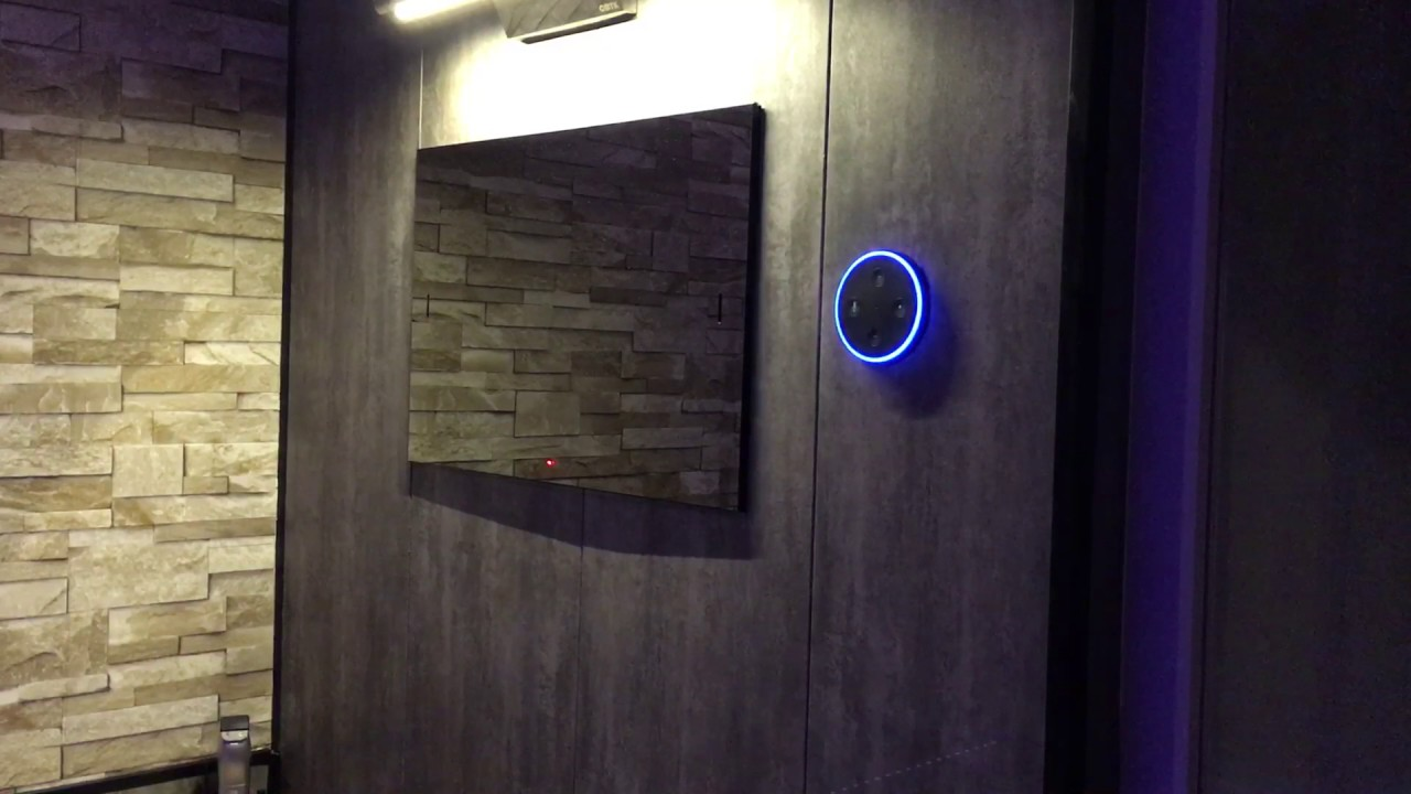 amazon echo dot built into bathroom wall youtube