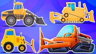 Bulldozer | Vehicle Formation And Uses | Cartoons By Kids Channel
