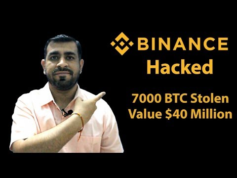 Binance Hacked | 7000 BTC Stolen - Value $40 Million | Deposits and Withdrawals Suspended For 1 Week