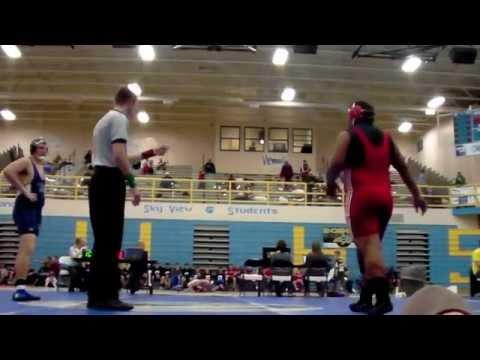 Bobcat Brawl 2012 | Bountiful High School Wrestling vs Pleasant Grove High School | 285 Pounds