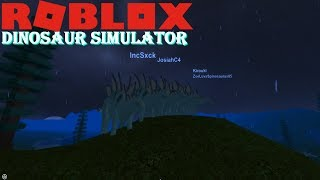 Roblox Dinosaur Simulator - HUGE HERD OF STEGOS KILL KOSERS?!?! *scary sight*
