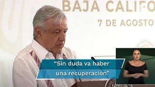 """Al calificar como una """"muy buena noticia"""", el presidente Andrés Manuel López Obrador presumió que, a pesar de la crisis económica generada por la pandemia del Covid-19, en los primeros siete días de agosto se crearon 10 mil nuevos empleos"""