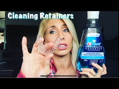 """""""POST BRACES""""   How I Clean My Retainers (Bonded & Clear)"""