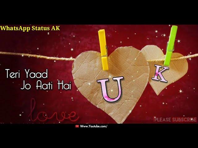 U - K Letters Name Couples ???? New WhatsApp Status ???? Video    Couples ???? Love ???? Status