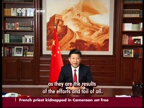 Chinese President Xi Jinping delivers his New Year Address