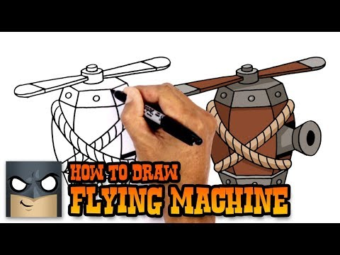 How to Draw Flying Machine | Clash Royale