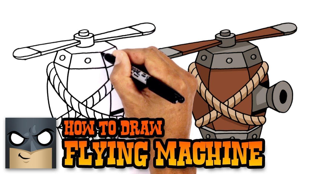 Como Dibujar La Maquina Voladora
