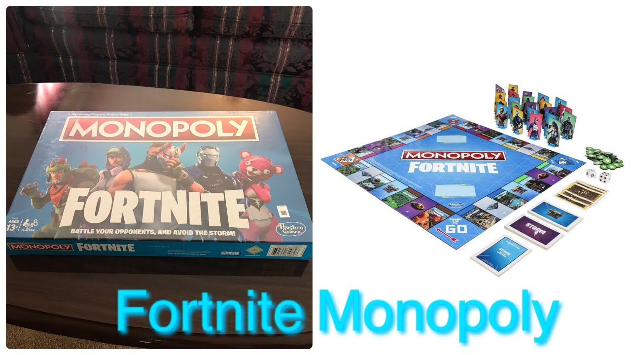 Monopoly Fortnite Edition Board Game Unboxing Review Youtube
