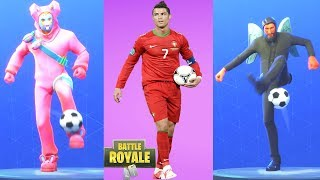 Cristiano Ronaldo vs Fortnite Kick Ups Emotes - Fortnite Battle Royale