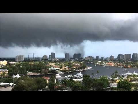 Tornado at Fort Lauderdale Beach 10x speed, 3/19/ 2016