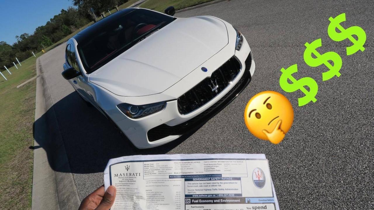 How Much Did My 2016 Maserati Ghibli S Cost? - YouTube