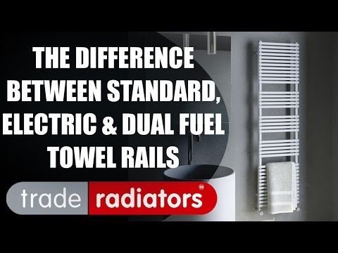 The Difference Between Standard, Electric and Dual Fuel Heated Towel Rails by Trade Radiators