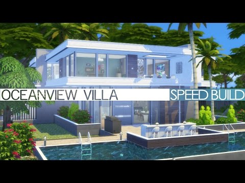 The Sims 4 Speed Build - MODERN OCEANVIEW VILLA