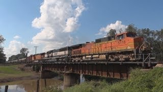 BNSF 5118 South @ Grosse Tete, LA