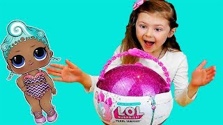 LOL Surprise Doll Pearl Limited Edition Purple Toy Opening Review by DASHA