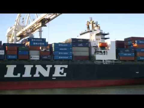 Bay Area Container Ship Spotting - NYK Argus and ZIM Pusan at Port of Oakland  June 17, 2013