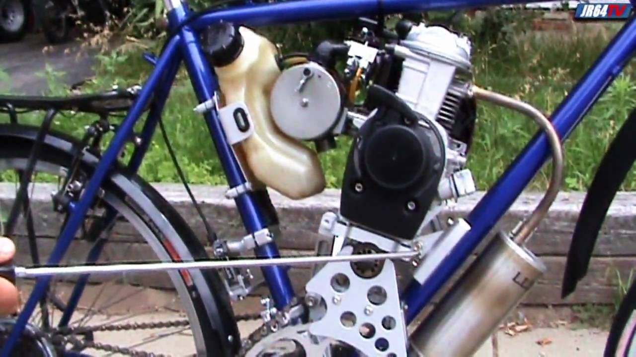 Steve Reichert: Home built motorized four stroke bicycle overview