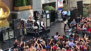 HD Aerosmith 2018 The Today Show live at Rockefeller Plaza Love in an Elevator