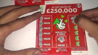 Scratchcard winners New Scratchcards from the National Lottery Part 4