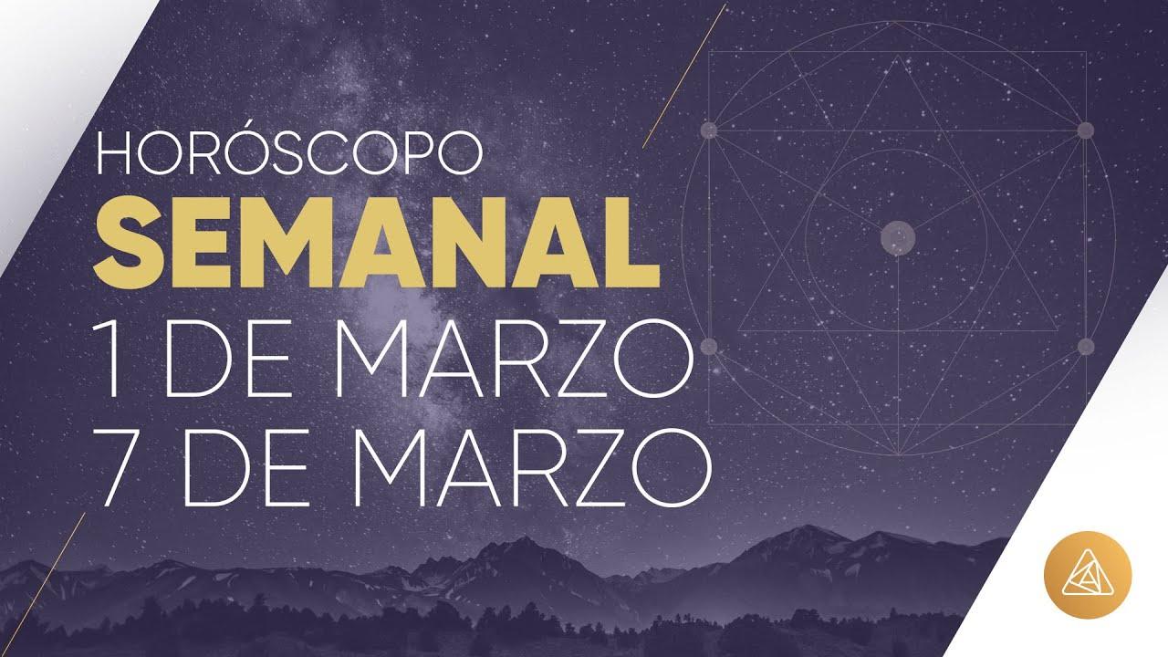 HOROSCOPO SEMANAL | 1 AL 7 DE MARZO | ALFONSO LEÓN ARQUITECTO DE SUEÑOS