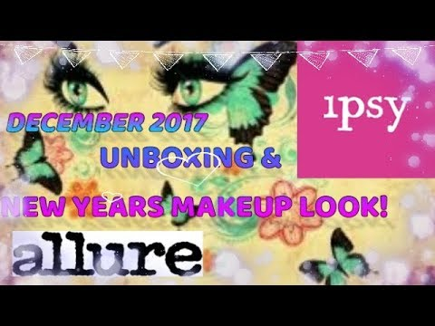 DECEMBER IPSY ALLURE & TONY DASH UNBOXING NEW YEARS LOOK TRY ON EDITION