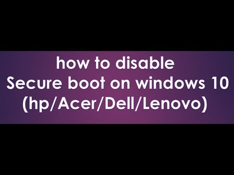 how to disable secure boot in windows 10 2019
