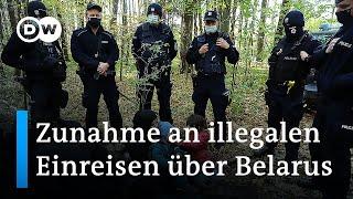 Mehr illegale Grenzübertritte über Belarus-Route nach Deutschland | DW Nachrichten