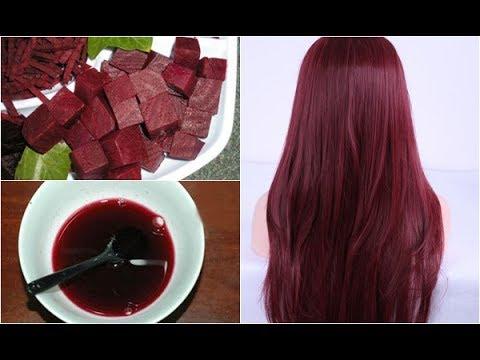 Nhuộm tóc với củ dền đỏ trong 30 phút màu lên chuẩn đẹp lại cực kỳ bóng mượt mà không xơ rối
